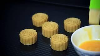 Cách làm nướng bánh trung thu hiện đại nhân dứa đậu xanh  ngon tuyệt   How to make Mooncake