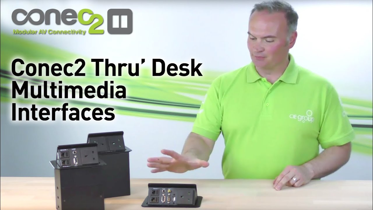 Conec Discreet ThroughDesk Popup Multimedia Outlets YouTube - Conference table pop up outlets