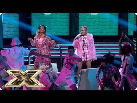 Acacia & Aaliyah sing Finesse | Live Shows Week 1 | The X Factor UK 2018