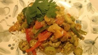 Okra Curry In Coconut Milk- Vendakka Paalu