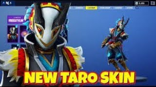 Fortnite-I bought the new skin [taro]!! -I increased the draw!!!!!