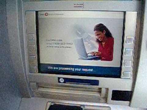 Bank Of Montreal ATM Withdrawal Toronto 1Jul09