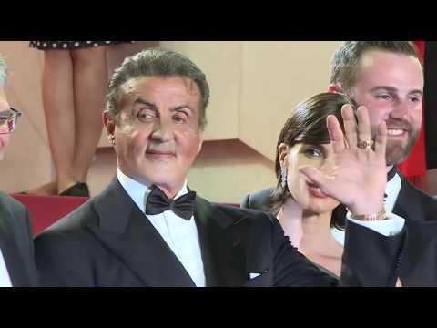 AFP: Sylvester Stallone sur le tapis rouge de Cannes