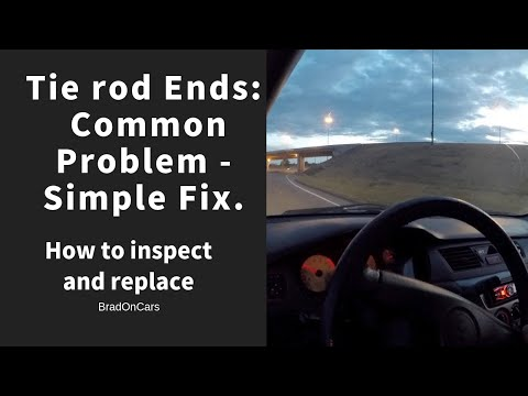 DIY Car Repair:  How to inspect and replace an outer tie rod end Mitsubishi Lancer