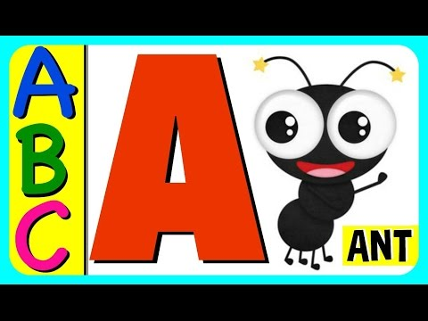 Learn ABC Alphabet Letters With ABC Flash Cards! Fun Educational ABC  Alphabet Video For Kids & Babie