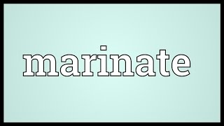 Marinate Meaning