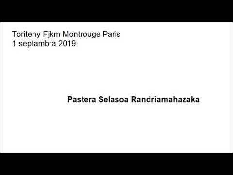 Toriteny Fjkm Montrouge Paris 1 Septambra 2019 Pr Selasoa Randriamahazaka