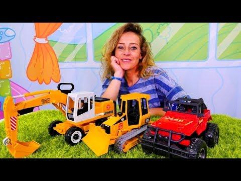 Kinder Videos mit Nicole. Wir spielen mit Spielzeugautos.