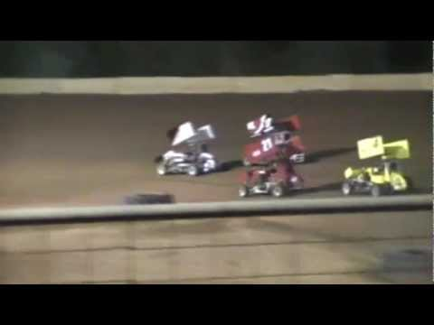 11/26/2011 Gulf Coast Dirt Track Championship Mini Sprint Race #17 Aaron Buscavage