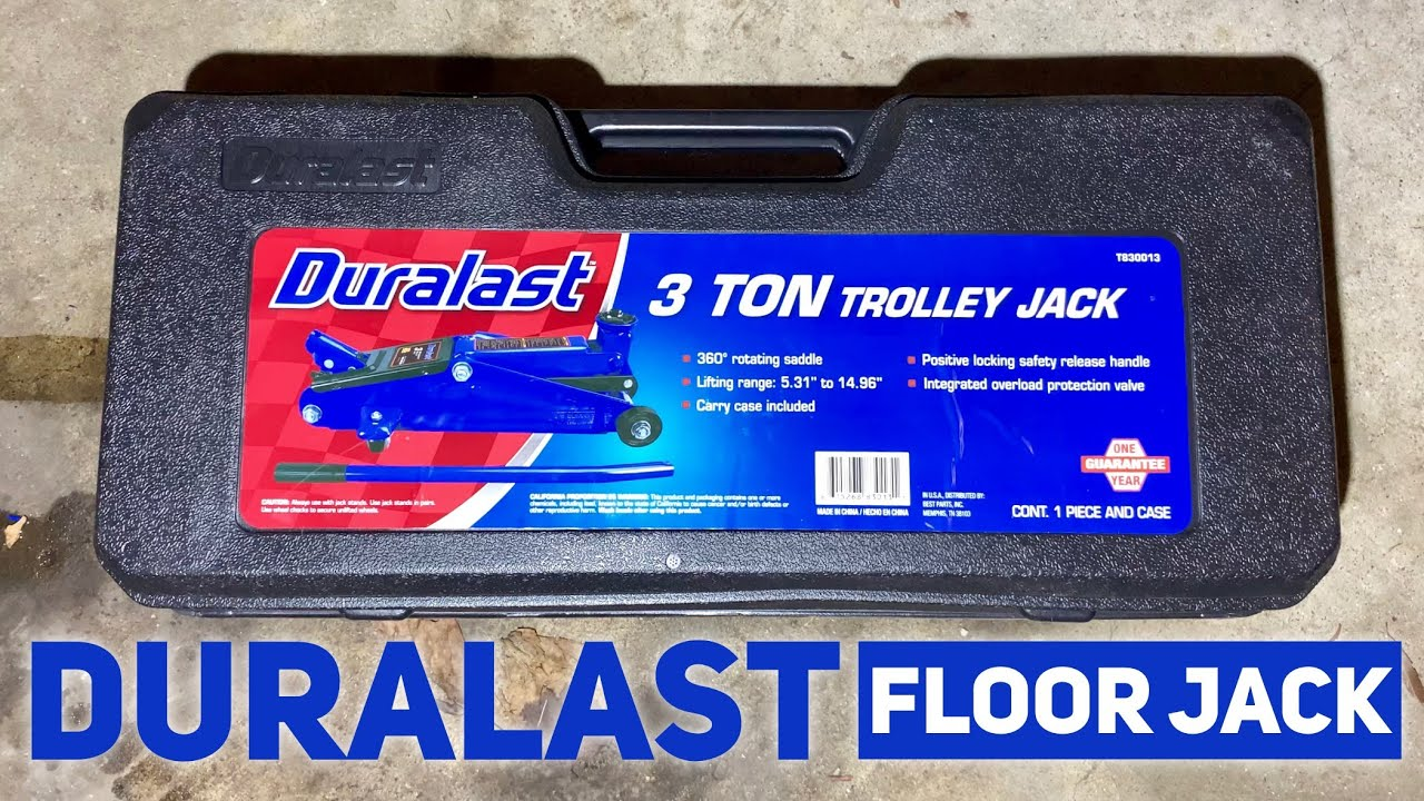 Duralast 3 Ton Trolley Floor Jack With Case From Autozone Review