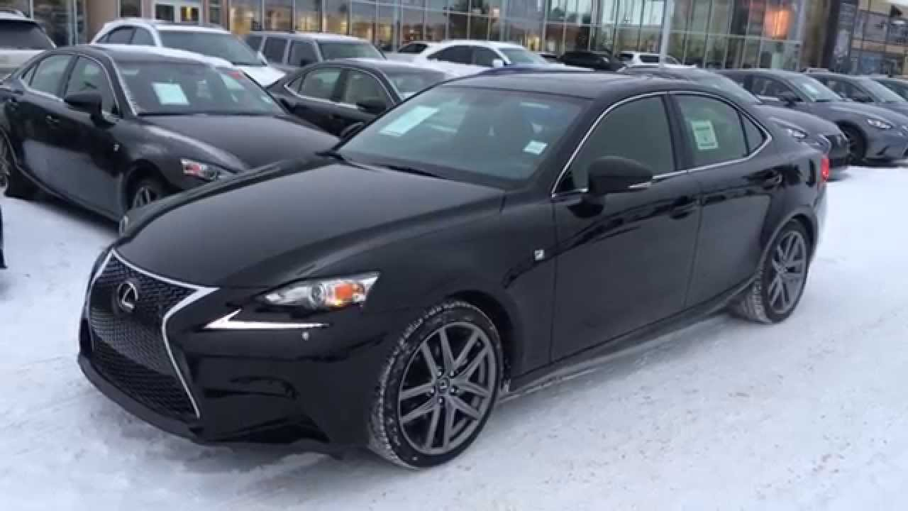 new black 2015 lexus is 250 awd f sport series 2 walk around review north edmonton youtube. Black Bedroom Furniture Sets. Home Design Ideas