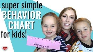Mom Hacks: Super Simple Behavior Chart for Kids!   Jordan from Millennial Moms