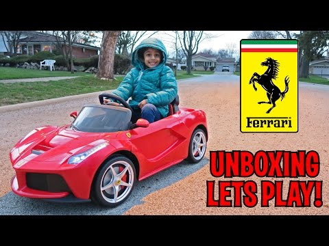 Unboxing Lets Play La Ferrari Ride On Remote Control Kids Car By Best Choice Products Youtube