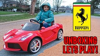 UNBOXING & LETS PLAY - La Ferrari Ride On & Remote Control Kids Car by Best Choice Products