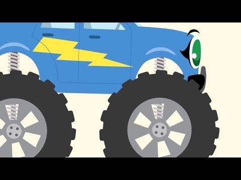 Мультики про машинки - БИБИКА - Про животных - Обучающие мультфильмы для самых маленьких
