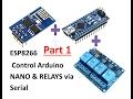 #1 ESP8266+ Arduino Nano + Relay via Serial - MQTT Node Red