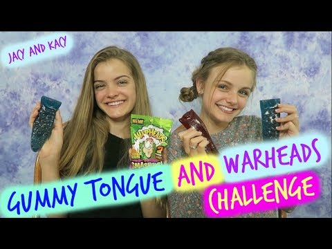 Thumbnail: Gummy Tongue & Warheads Challenge ~ Jacy and Kacy