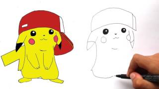 How to Draw Pikachu With Ash
