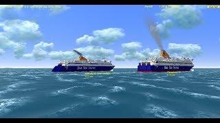 Vehicle Simulator Online : Blue Star Paros & Blue Star Delos at Naxos Port