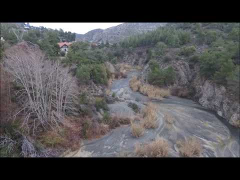 Cyprus nature -  Flying above Rivers and Lakes