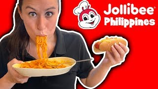 TRYING Jollibee in the Philippines ?? for the FIRST TIME