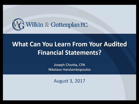 What Can You Learn From Your Audited Financial Statements?
