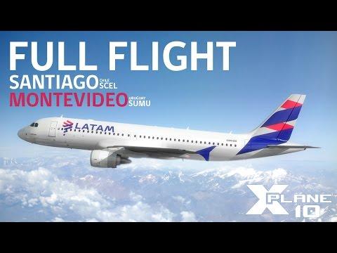 XPLANEᴴᴰ: Full Flight - Santiago(SCEL) / Montevideo(SUMU) ⚫A320neo⚫ LATAM