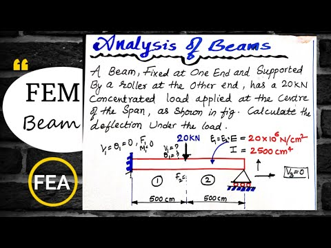 Beam Problem In Finite Element Analysis | FEM Beam Problem| FEA | FEM