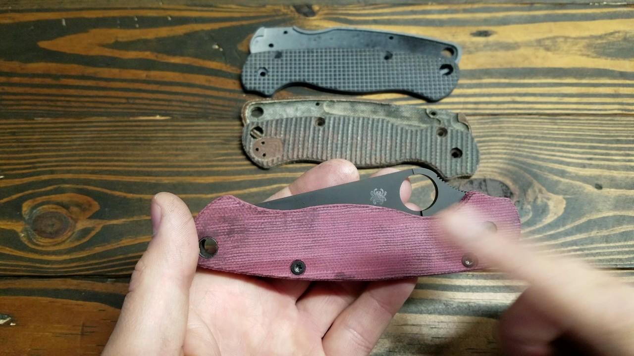 Spyderco pm2 custom scales!