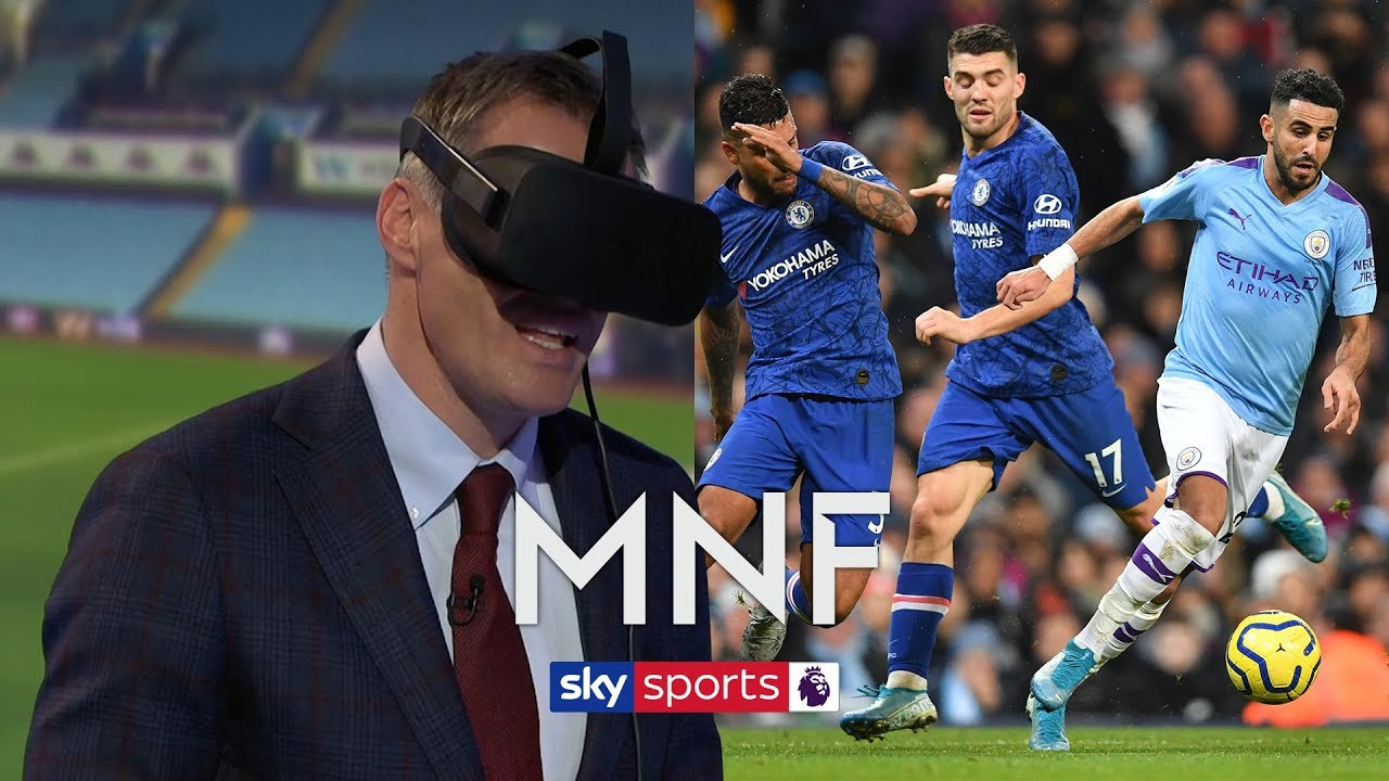 Jamie Carragher uses virtual reality to try and defend Riyad Mahrez's goal against Chelsea | MN