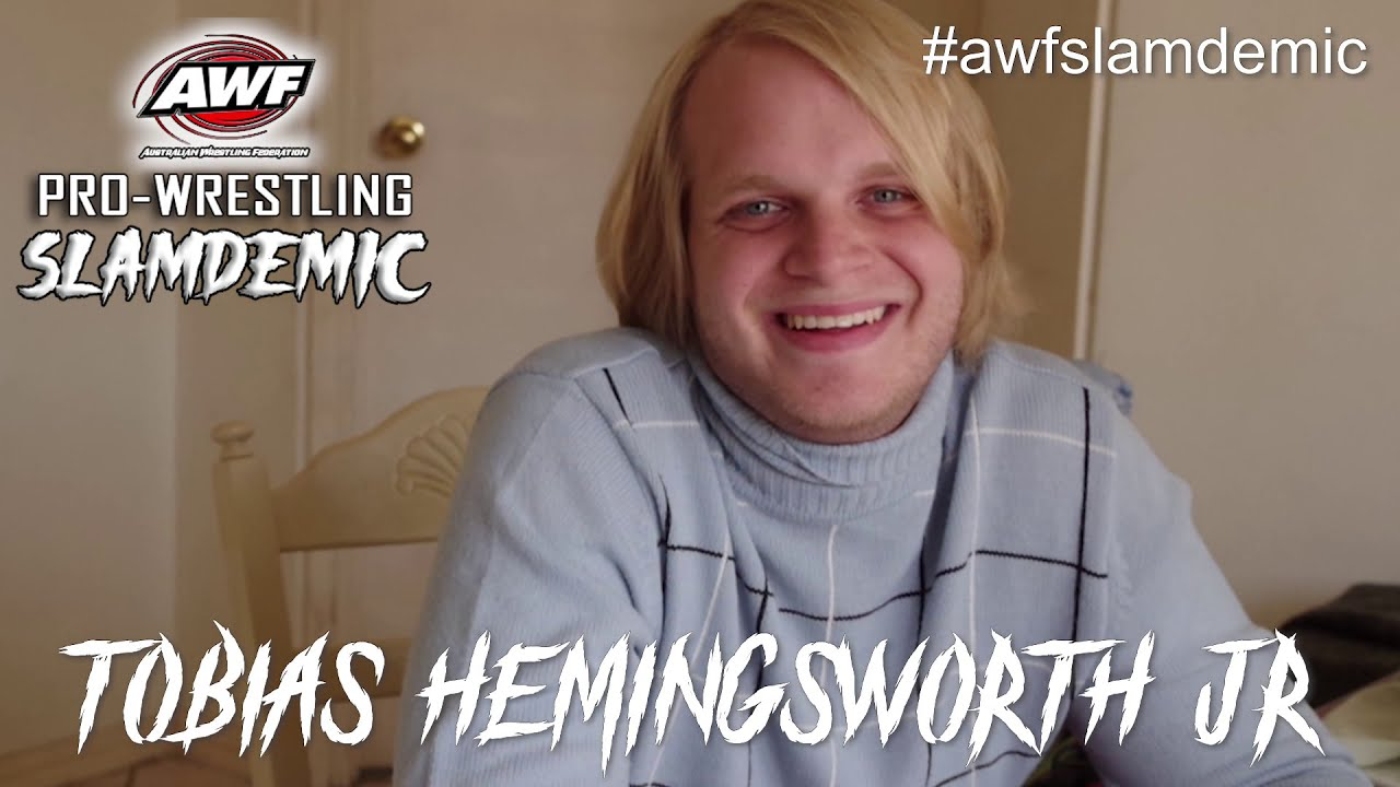 Tobias Hemingsworth Jr is excited for his World Premiere versus The Mauler at AWF Slamdemic