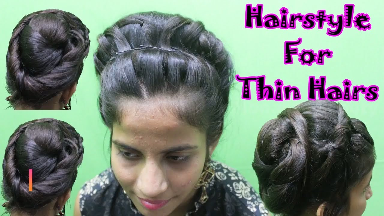 latest indian bridal hairstyle for thin hairs