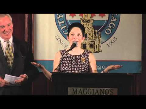 Hon. Susana Mendoza, Clerk, City of Chicago - shout out to her future husband...
