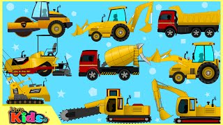 Learning Construction Vehicles | Excavators | Truck Videos for Children | Little Kids TV