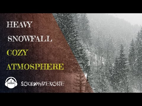 Heavy Snowfall Sounds for Relaxation and Sleep | Cozy Winter Ambience