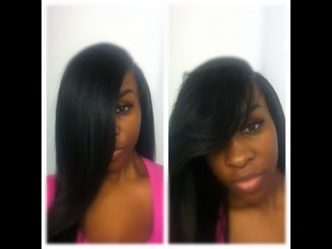 Deep Side Part To Weave