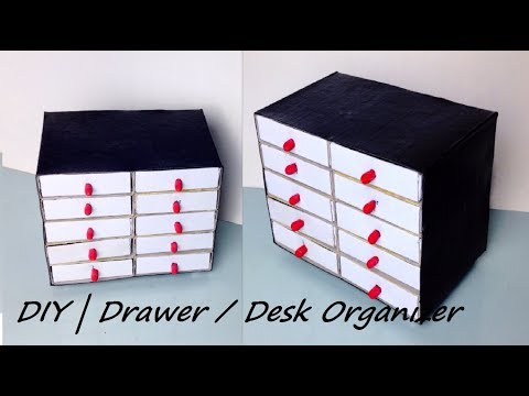 DIY   Desk Drawer / Organizer   Made with Matchbox  