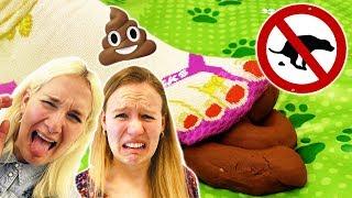 ACH DU KACKE Challenge - Don't step on it Spiel deutsch | Nina VS Kathi ACHTUNG KACKHAUFEN!