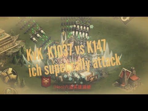 [clash of kings]KvK K1037 vs K147 ich super rally