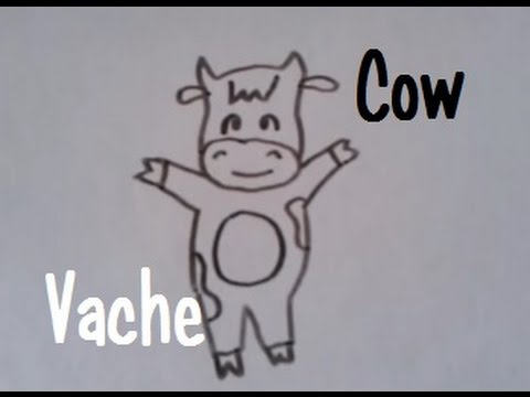 Dessiner une vache version 3 youtube - Dessiner une vache ...