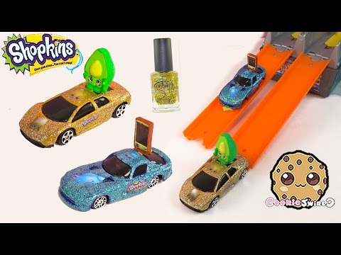DIY Custom Limited Edition Shopkins Inspired Glitter Race Cars How To Do It Yourself Craft Video