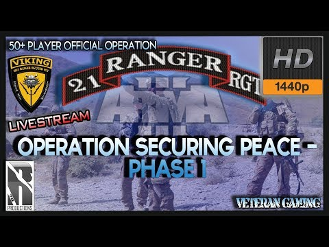 ARMA 3 I 21st US Army Rangers |1440p 60fps | Op Securing Peace - Phase 1 | LIVE
