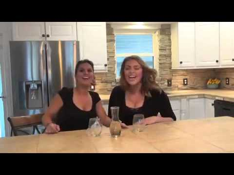 Two women down a bottle of helium infused wine youtube
