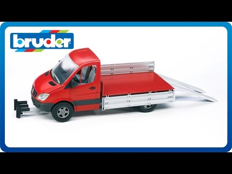 bruder toys mb pick up truck 02530 youtube. Black Bedroom Furniture Sets. Home Design Ideas