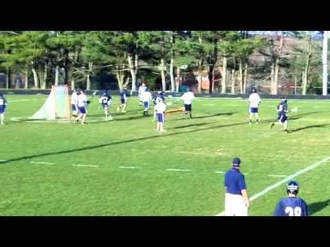 Milford high school lacrosse game winning goal
