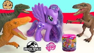 Jurassic World Velociraptor Target Exclusive With My Little Pony Princess Luna & Fash'ems Blind Bag
