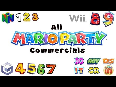 Mario Party - All TV Commercials (Console and Handheld Games)