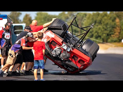 Download 2500HP Javelin WRECKS & ends up on its roof! :( [Hot Rod Drag Week: Day 5]