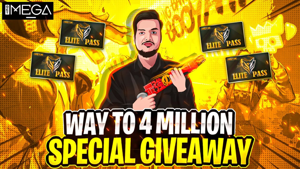 Way To 4m Special Giveaway With NayanAsin Get Mega Game Party  - Garena Free Fire Live
