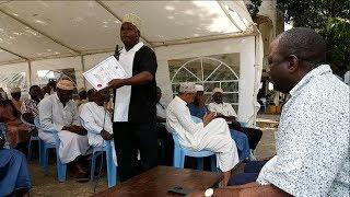 Muslim religious leaders from Jomvu have backed Jubilee Party parliamentary candidate Karisa Nzai